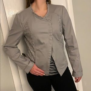 Maurices Gray jacket with lace